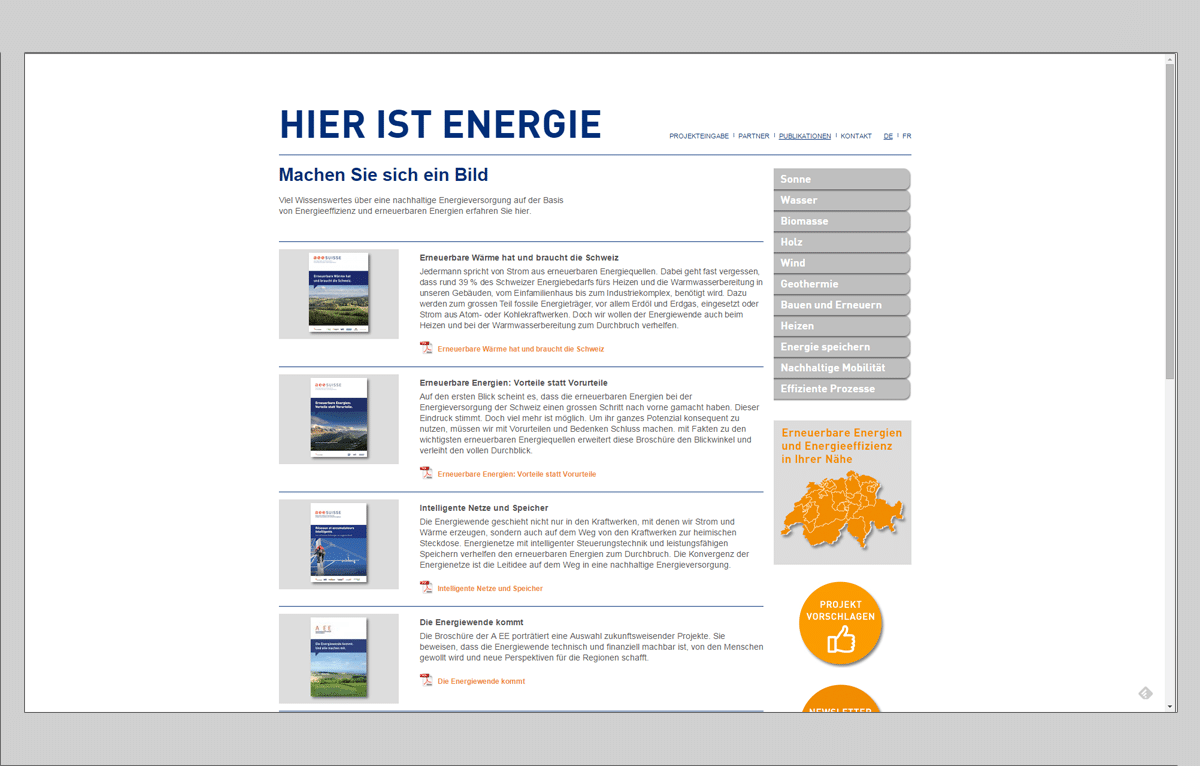 Screenshot Website hier-ist-energie.ch