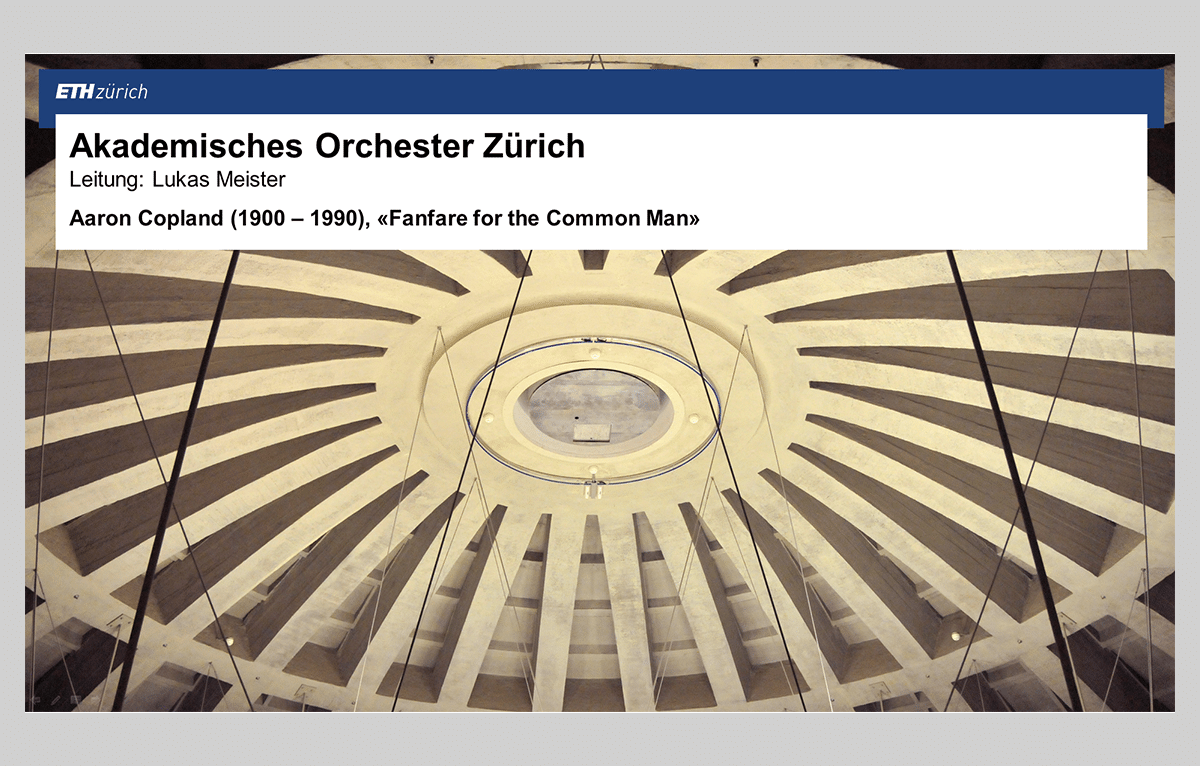 Präsentationen ETH Zürich
