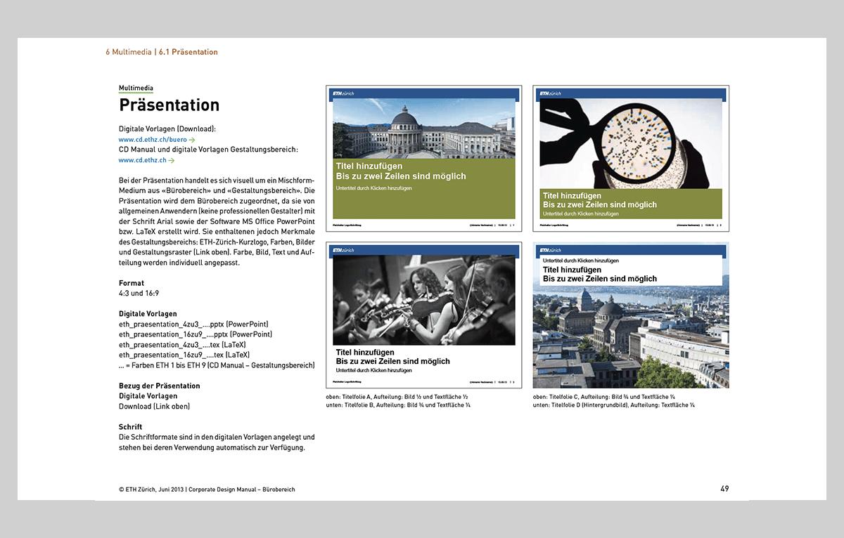 PowerPoint Folienmaster ETH Zürich