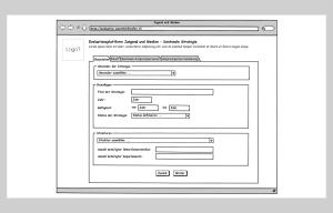 Wireframes zur Website Jungend und Medien
