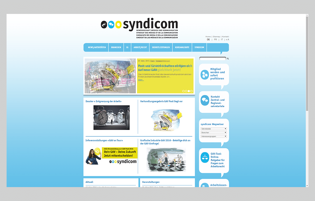 Screenshot syndicom
