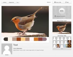 Screenshot: Farbpaletten mit ColRD