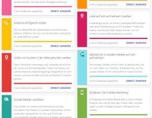 Atelier Digital - Übersicht Lektionen